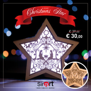 """Lampada di Natale Stella """"Natività"""""""